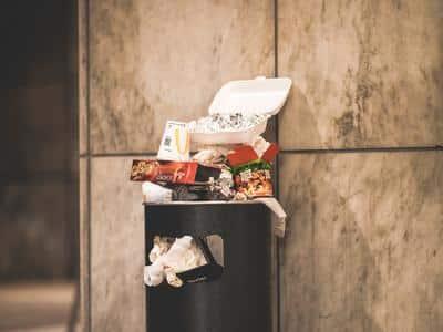 Overflowing bin